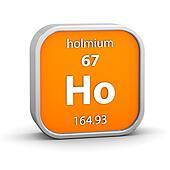 Holmium material sign