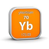 Ytterbium material sign
