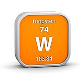 Tungsten material sign