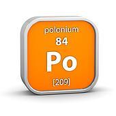 Polonium material sign