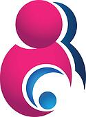 Mother and baby logo