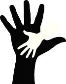 Helping Hand Clipart Black And White