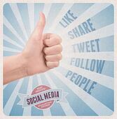 Retro style poster of social media service