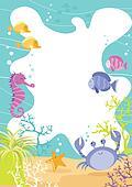 Sea Creature Fun Border