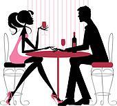 Couple sharing romantic dinner