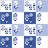 Patchwork flowers pattern