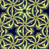 vintage blue yellow oriental kaleidoscope background