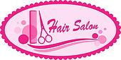 pink hair salon symbol