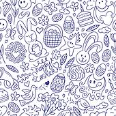 Easter - seamless pattern