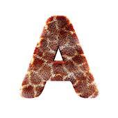Isolated giraffe alphabet letter