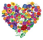 Flower Heart Vector Graphic
