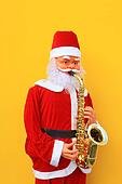 Santa Claus is playing Sax