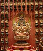 Buddhist statues in a temple