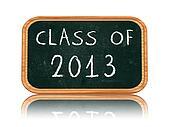 class of 2013 on blackboard banner