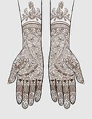 Henna Tattoo Clip Art - Royalty Free - GoGraph