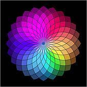 Rainbow style vector wheel