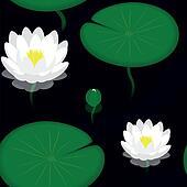 Seamless pattern - Evening pond