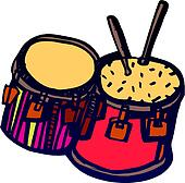 Drums and drumsticks