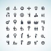 Set of business concept icons