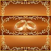 Wedding greeting or invitation card