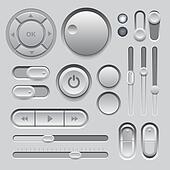 Gray Web UI Elements Design.