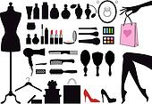 fashion and beauty, vector set