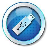 Pen-drive USB icon