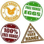 Set of free range stamps