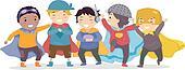 Boys Dressed as Superheros