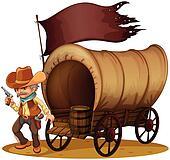 A gunman with a wagon