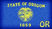 Linen flag of the US state of Oregon