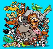 Animals cartoon.