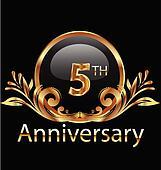 5 years anniversary birthday