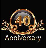40 years anniversary birthday