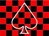 The playing card suit - spades