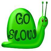 go slow green snail