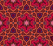 Bold pattern with Indian motifs