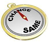 Change Vs Same Gold Compass Changing Innovation
