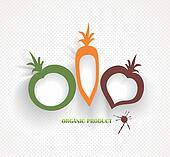 organic and farm fresh food badge and label