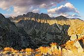 Mountain sunset panorama at autumn in Slovakia - High Tatras