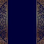 Vector gold ornate border