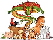 All 12 Chinese Zodiac Animals Toget