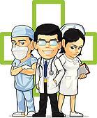 Doctor, Nurse, & Surgeon