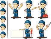 Technician or Repairman Mascot 2