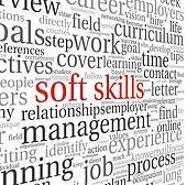 Soft skills concept on white