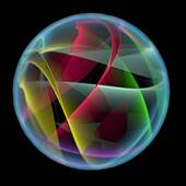 Abstract ball (3D xray multicoloured and blue transparent)