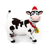 Funny cow character