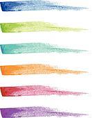 paint brush strokes, vector set