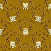 Modern damask pattern in hipster style