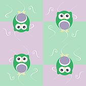 Cute seamless owl background patten for baby kids